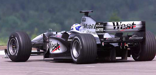 David Coulthard at the European GP of 2000