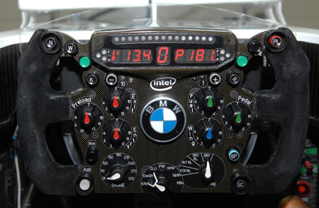 BMW Sauber F1.08B steering wheel