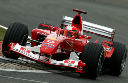 Michael Schumacher at the 2003 British GP