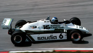 Keke Rosberg in the FW08, Nurburgring 1982