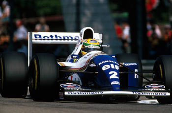 Ayrton Senna in the FW16, Imola GP 1994