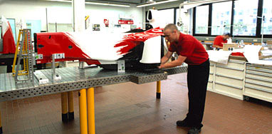 Assembling an F1 car