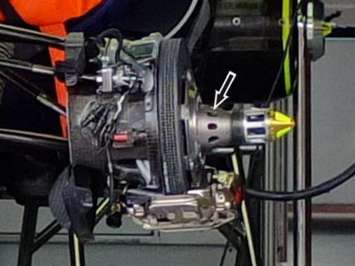 Red Bull RB8 wheel hub